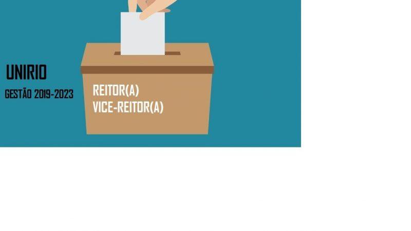 CONSULTA ELEITORAL PARA ESCOLHA DE REITOR(A) E VICE-REITOR (A)  DA UNIRIO GESTÃO 2019-2023