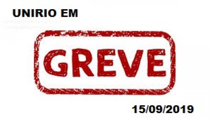 ASUNIRIO APROVA GREVE PARA DIA 15 DE MAIO DE 2019