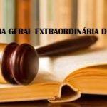 Assembleia Geral Extraordinária em 05 de novembro de 2019